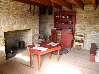 Dred Scott - Dred and Harriet Scott's restored quarters at Fort Snelling