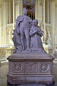 Dreux (Eure-et-Loir) - Chapelle royale Saint-Louis - Chapelle de la Vierge - Le couple royal Louis-Philippe Ier et Marie-Amélie.jpg