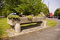 Drinking trough now used for planting Southgate Green, London N14 - geograph.org.uk - 791828.jpg