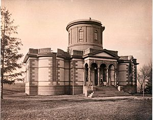 Dudley Observatory - The first building of the observatory (c.1880)