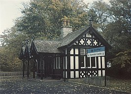 Dunrobin Castle railway station in 1989.jpg