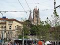 Duomo di losanna, veduta da piazza della riponne.JPG