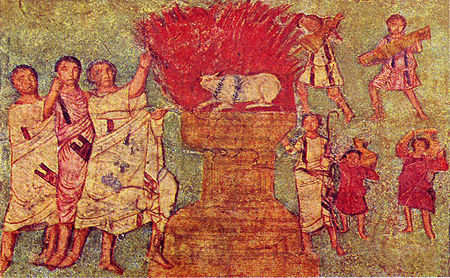 Dura Europos fresco worshipping gold calf.jpg