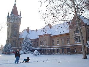 Feštetić Castle - Feštetić castle in winter - eastern side