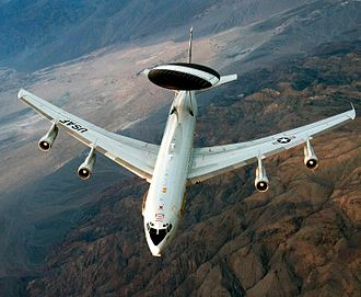 Boeing E-3 Sentry - Image: E 3 Sentry exercise Green Flag 2012 (Cropped)