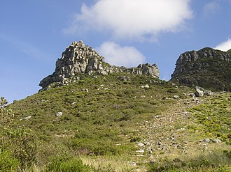 Constantia Nek - Eagles Nest (421m), a rocky outcrop overlooking Constantia Nek