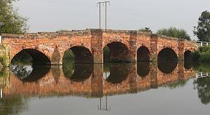 Eckington Bridge - Image: Eckington Bridge from the south east 3