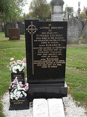 Eddie Colman - Eddie Colman's headstone, Weaste cemetery