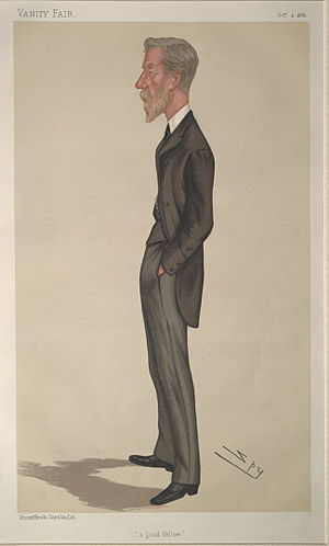 """Lord Edward Cavendish - """"a good fellow"""". Caricature by Spy published in Vanity Fair in 1886."""