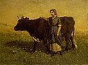 Edward Mitchell Bannister - Untitled (woman walking with cow) - 1983.95.137 - Smithsonian American Art Museum.jpg