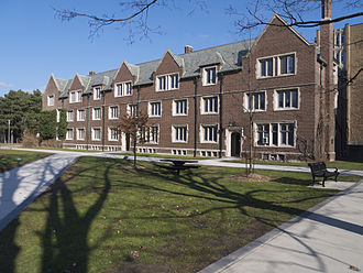 Edwards Hall is one of twelve student residences on the main campus Edwards Hall McMaster 2013.jpg