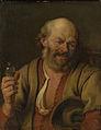 Een man met een borrelflesje Rijksmuseum SK-A-456.jpeg