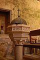 Eglise de Coust (Cher) - fonds baptismaux.JPG