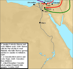 Crusader invasions of Egypt - Image: Egypt 4th invasion