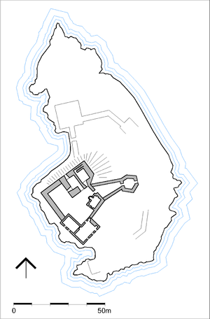 Capture of Eilean Donan Castle - Plan of the castle at the time of the capture