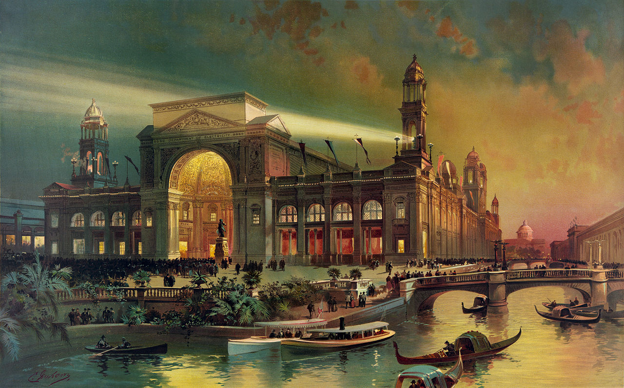 File:Electrical building, World's Columbian Exposition ...