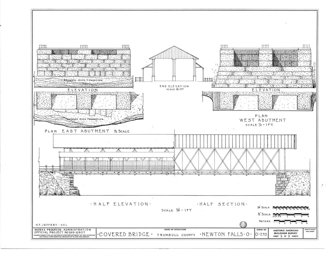 File elevations end elevation plan east abutment plan for Covered bridge design plans