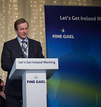 Enda Kenny - Kenny makes a speech to Fine Gael party members on the day of the election results.