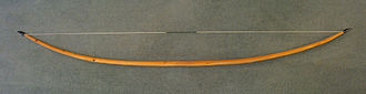 Spring (device) - The English longbow – a simple but very powerful spring made of yew, measuring 2 m (6 ft 6 in) long, with a 470 N (105 lbf) draw force