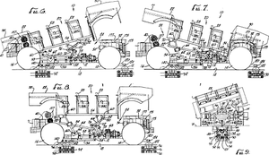 Enhanced motion vehicle - Diagrams showing the range of motion of an enhanced motion vehicle