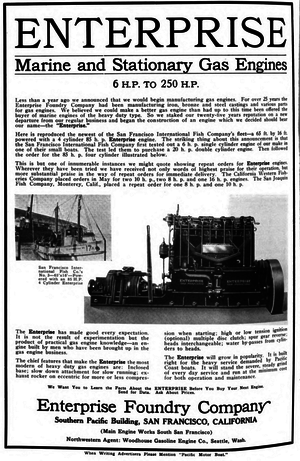 Enterprise Engine - Advertisement from Pacific Motorboat Magazine 1918