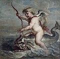 Erasmus Quellinus (II)- Cupido navegando sobre un delfín, 1630.jpg