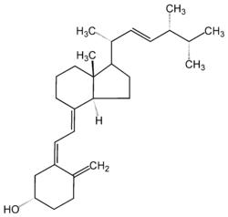 Ergokalciferol, rostlinný prekurzor kalcitriolu