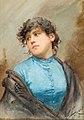 Ernesto Levorati Bildnis einer jungen Frau in blauem Kleid.jpg