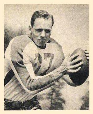 Ernie Steele - Steele on a 1948 Bowman football card