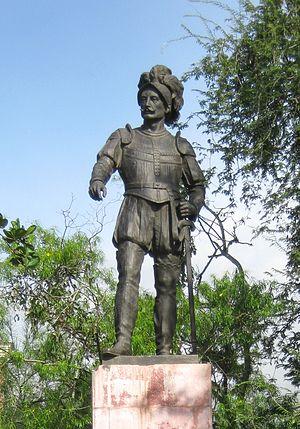 Jorge Robledo (conquistador) - Image: Estatua del Mariscal Jorge Robledo SFA