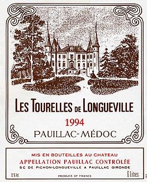 Château Pichon Longueville Baron - Les Tourelles de Longueville, 1994
