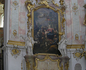 Johann Baptist Straub - One of the side altars at Ettal Abbey