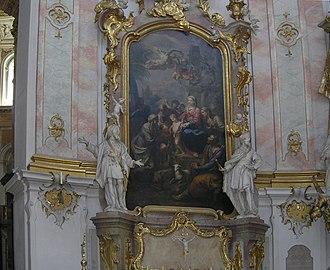 Johann Baptist Straub - One of the side altars at Ettal Abbey