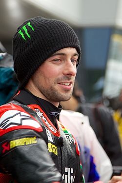 Eugene Laverty in Parc Fermé, Silverstone 2012.jpg