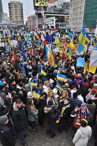 International reactions to the Euromaidan - Toronto Euromaidan rally on December 15, 2013