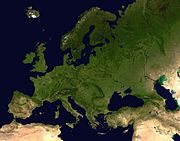 Európa z vesmíru