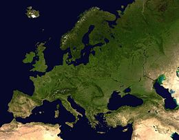 Immagine satellitare dell'Europa