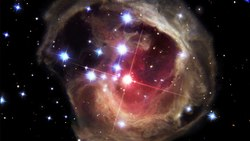 Fil:Evolution of the light echo around V838 Monocerotis (Heic0617a).ogv