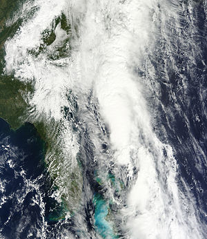 Tropical Storm Nicole (2010) - The remnants of Nicole approaching South Carolina on September 30