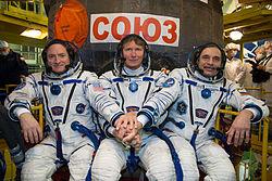 Scott Kelly, Gennadi Padalka, Michail Kornijenko