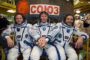 Soyuz TMA-16M - Image: Expedition 43 Preflight (201503150011HQ)