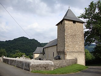 Ance Féas - The church of Saint-Barthélemy, in Féas