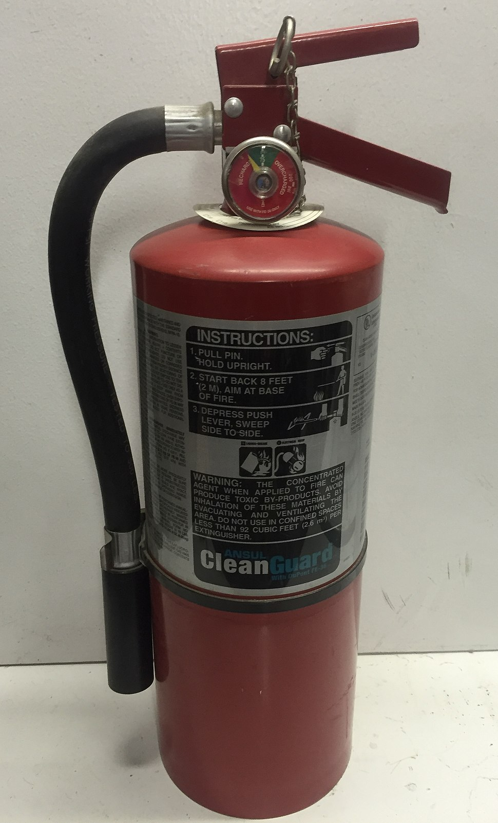 FE-36 Cleanguard fire extinguisher
