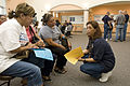 FEMA - 37438 - FEMA worker talking to residents in Texas.jpg