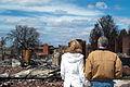 FEMA - 40661 - Governor Brad Henry and wife, Kim, survey fire destruction.jpg