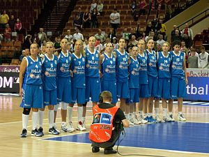 Greece women's national basketball team - The Greek women's national basketball team participating in the FIBA EuroBasket Women 2011 contest.