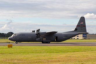 Rhode Island Air National Guard - 143rd Airlift Group C-130J-30 At the 2016 Farnborough Airshow