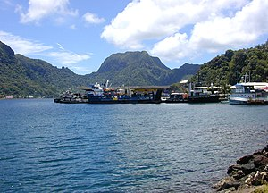 Portion of the dock area at Fagatogo, Pago Pag...
