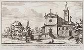 San Pietro in Montorio in una stampa di Giovanni Battista Falda, 1670 circa