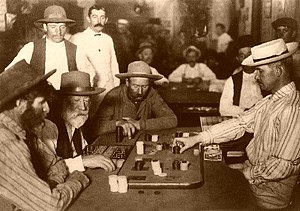 Albert Horsley - Miners playing faro in a saloon in 1895.